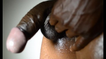 BLACK DICK - DADDY IN THE BATHROOM JACKING OFF
