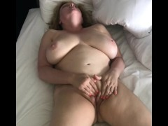 Horny Naked Wife Rubs Her Pussy to Orgasm - Naughty Homemade