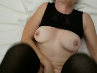 She cums more times than I can count and I reward her with a creampie