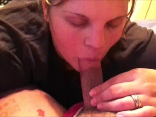 Her dick sucked mouth creampie horny wife for...