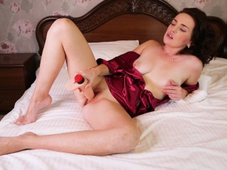 Hot girl plays with a toy and rides (Anastasia999Cute)