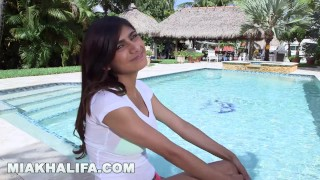 MIA KHALIFA - In A Bikini, Getting Interviewed, and Having Sex... Fuck Yeah porno