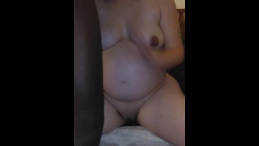 Hitting this pregnant pussy all kinds of ways creampie