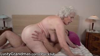 LustyGrandmas Sensual Granny Uses Hairy Box to Ride Young Dick Cock cowgirl