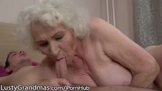 LustyGrandmas Sensual Granny Uses Hairy Box to Ride Young Dick Tits style