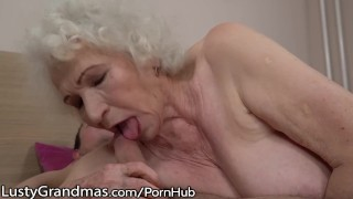 LustyGrandmas Sensual Granny Uses Hairy Box to Ride Young Dick Cock petite