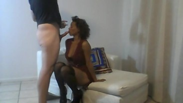 Sia sucking cock and getting fucked rough (full)