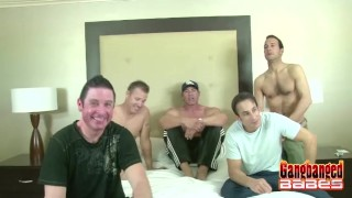 Shower kayla ending gangbang for cumshot fishnet brunette