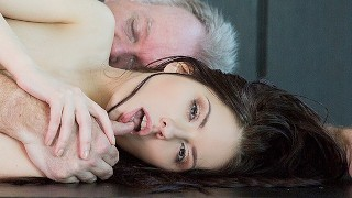 Screen Capture of Video Titled: 18 yo girl gets fucked by her step dad on her birthday