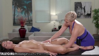 AllGirlMassage Ryan Keely Practices Massages On Teen Step Daughter
