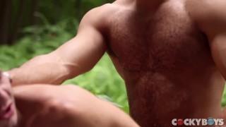 Sean king zevrans seduces big stud cock allen ass big