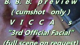 """B.B.B. preview: VICCA's """"3rd official facial"""" (cumshot only with SloMo)"""