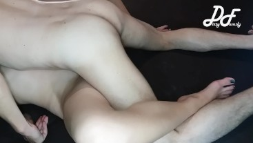 Real homemade sex without mounting, simultaneous orgasm ~DirtyFamily~