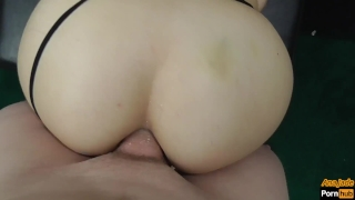 Teen StepSister Sucks and Rides Makes Him Cum Twice With Pussy And Anal Make wet