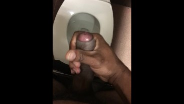 over the toilet it goes down