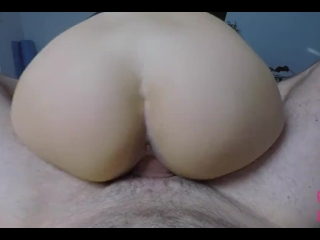 Girlfriend fucked on the Couch - POV - Blowjob, Cumshot on Ass