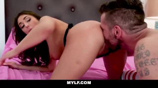 MYLF - Curvy Brunette Fucks Husband With Pocket Pussy Cock busty