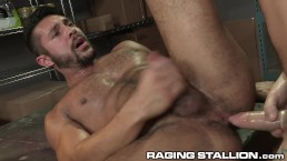 RagingStallion Hairy Muscle Hunk Boys Get Physical & Get Anal