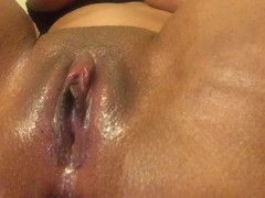 Rubbing my juicy pussy until I leak