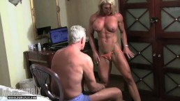 Muscle MILF Domination Mixed Wrestling