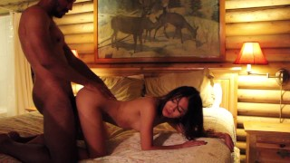 Jasmine Grey gets fucked in a cabin with Oliver Davis Talk play