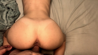 I can't stop cumming on his dick so he cums in me Pov couple