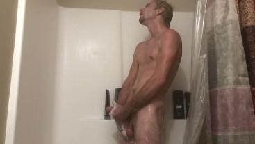 Big Dick Shower Jerk And Cum