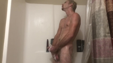 Big Dick Shower Jerk And Cum