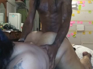 Splashing In Puddles- Super Sexy Super Wet Ebony BBW Backshots For Creampie