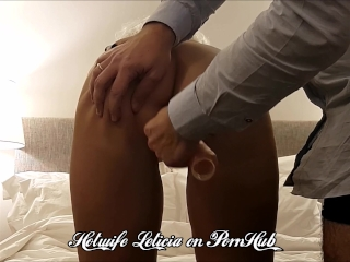 Punished wife fucked up in close up rough dildo sex