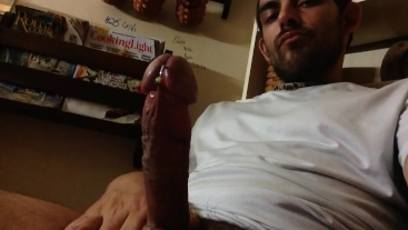 Massive veiny cock throbbing and showing off  hot piercing