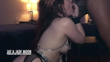 PAWG Takes all of her BBC • DickAfterDark • JayJadeMoon Amateur Couple