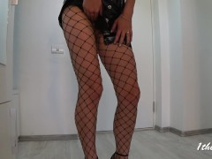 Skinny Police Officer Teasing. Amateure Role Play