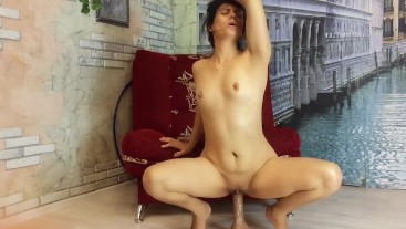 Beautiful bitch KristinaSlut took a place in the room to masturbate her pus
