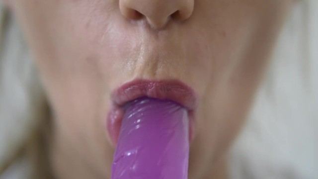 Teen Sucking her Dildo - 4k 4