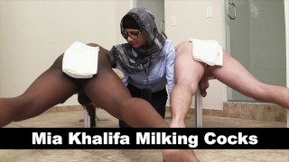 MIA KHALIFA - Your Favorite Arab Pornstar Milking Two Cocks Just For Fun