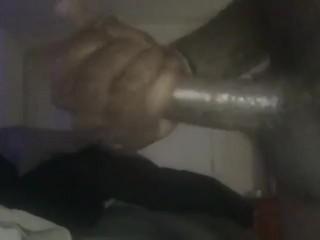 Huge dick tranny stroking for webcam fans...