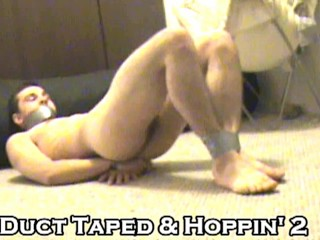 Duct Tape Hoppin 2 - Naked Restrained - feet hands mouth - TwistedRed