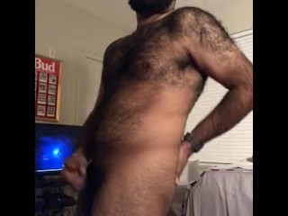 Hairy College Indian Jacking Off Uncut Cock