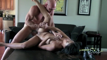 Asian Teen Booty Call, Gets Destroyed by Huge Cock!