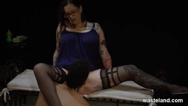Plump Dominant Lesbian Has Girl Service In BDSM Roleplay 15