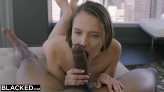 BLACKED Beautiful latina fucks her brother's best friend BBC Girl pigtails