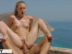 TUSHY Bored Rich Girl Gapes For Personal Trainer On Vacation