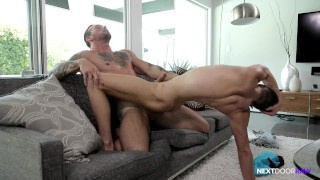 NextDoorRaw Straight Hunk Barebacks Boy's Younger Twink Brother Gagging view