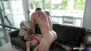 NextDoorRaw Straight Hunk Barebacks Boy's Younger Twink Brother Raw hunk