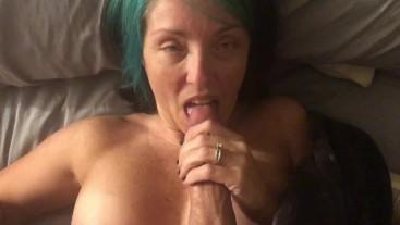 She loves sucking dick