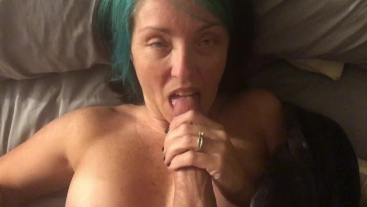 She loves sucking dick