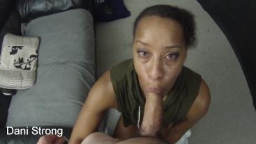 HOT ebony amateur milf learning to suck dick like a pornstar | full premium