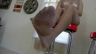 Pantyhose and Foot Tease Ashley Sinclair