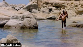 Blacked strong blonde tourist man black fucks beach the on missionary outdoors